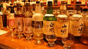 威士忌在日本东京银座品尝