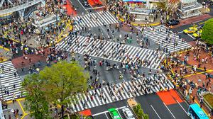 Shibuya Crossing(Shibuya Scramble),东京,日本