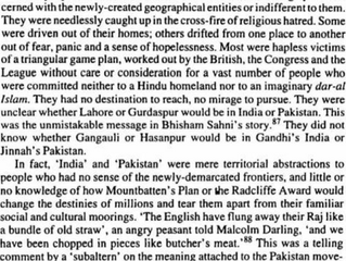 Partition was imposed from above
