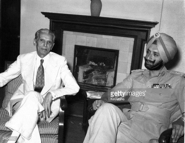 Jinnah and Maharaja of Patiala discussing the future of the Sikhs, May 19th, 1947.