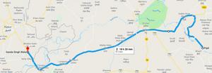 Pipli Ferozepur to Ganda Singh Wala