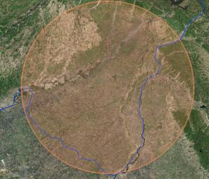 Actual boundary follows the river Ravi versus the Beas river