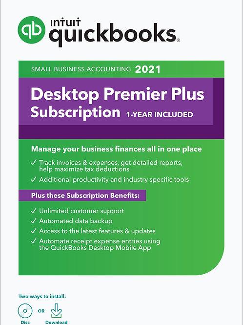 QuickBooks Desktop Premier PLUS 2021 - 3-User, Boxed or Download