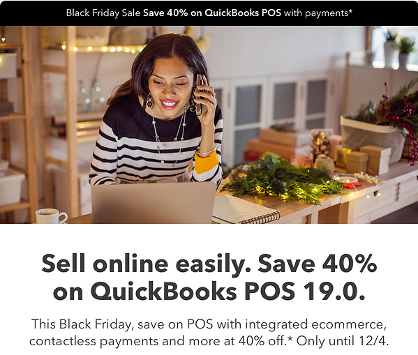 QuickBooks Point of Sale Black Friday Sale