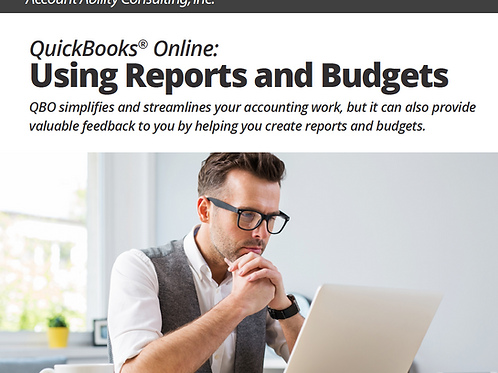Ebook: QuickBooks Online: Using Reports and Budgets