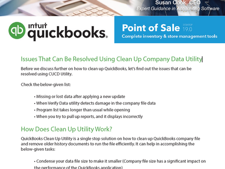 Understand the Clean Up Company Data Utility tool in Point of Sale