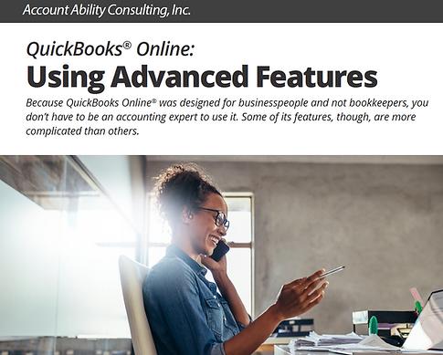 Ebook: QuickBooks Online: Using Advanced Features