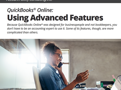 Ebook: QuickBooks Online: Using Advanced Features