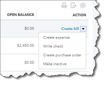 Creating and Using Vendor Records in QuickBooks Online