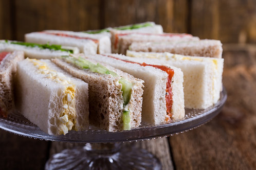 (Add on only) Finger Sandwiches x 2  Rounds (2 sandwiches/6 finger sandwiches)