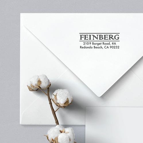 Custom Return Address Stamp, Rubber Stamp Feinberg