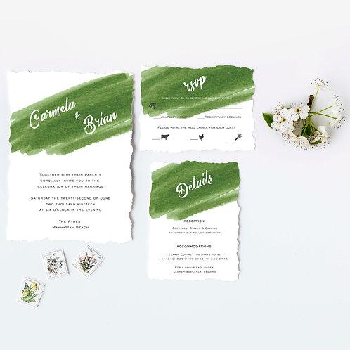 Carmela and Brian - Invitation Set - Digital file