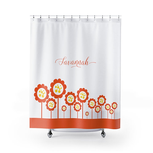 Customizable NAME Shower Curtain, Bathroom Decor