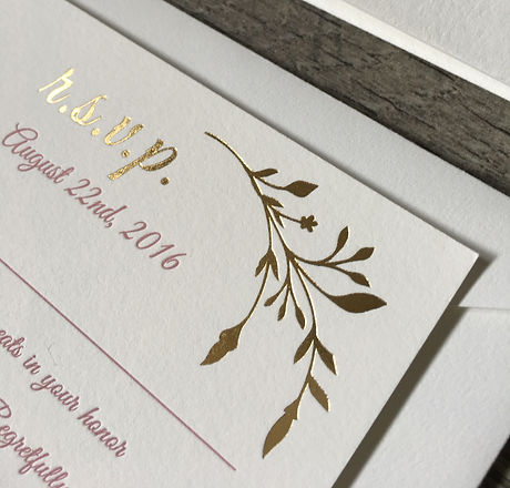 foil and letterpress printing