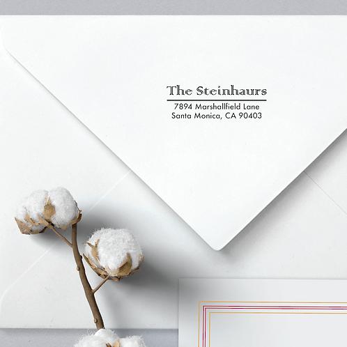 Custom Return Address Stamp, Rubber Stamp Stainhours