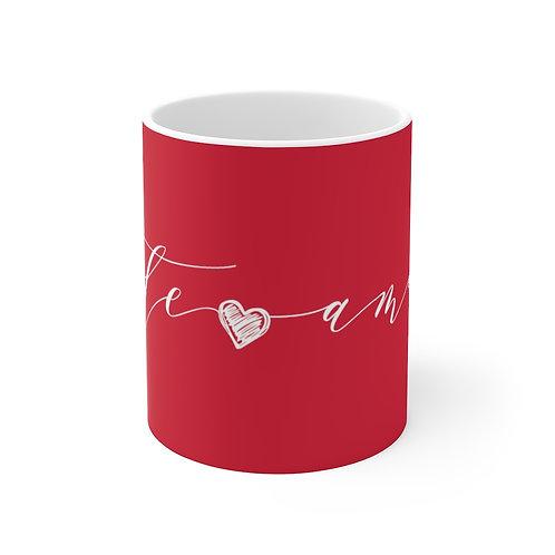 TE AMO Red Mug, Coffee Mug Gift, Valentine's Day Mug in Portuguese