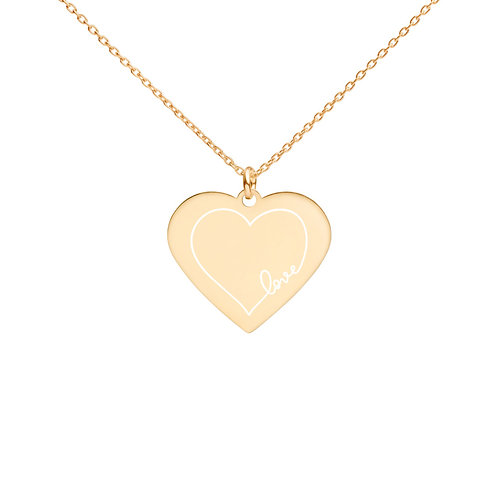 LOVE Engraved Heart Necklace