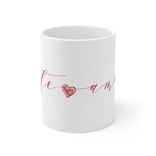 TE AMO Mug, Coffee Mug Gift, Valentine's Day Mug in Portuguese