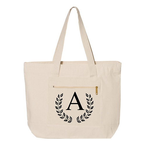 Monogram Tote Bags - Natural - 100% Cotton Canvas