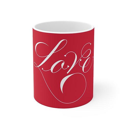 Red LOVE Mug, Coffee Mug Gift