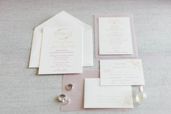 Foil and Letterpress Wedding Invitation