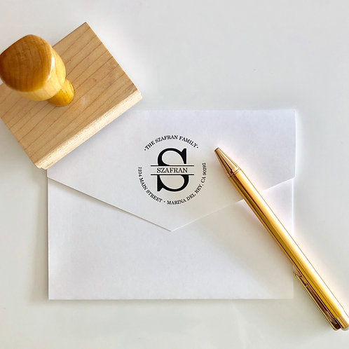 Custom Return Address Stamp, Rubber Stamp S