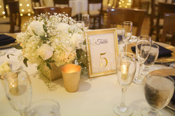 Gold Foil and Digital Printed Table Numbers