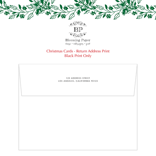Return Address Print
