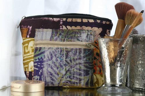 African Batik Cosmetics Bag