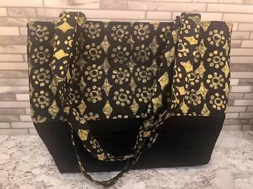 Black and Gold Batik Purse