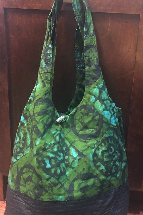 Green and Black Tote