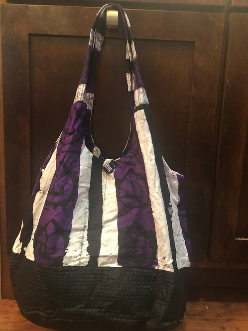 Purple and Black Tote