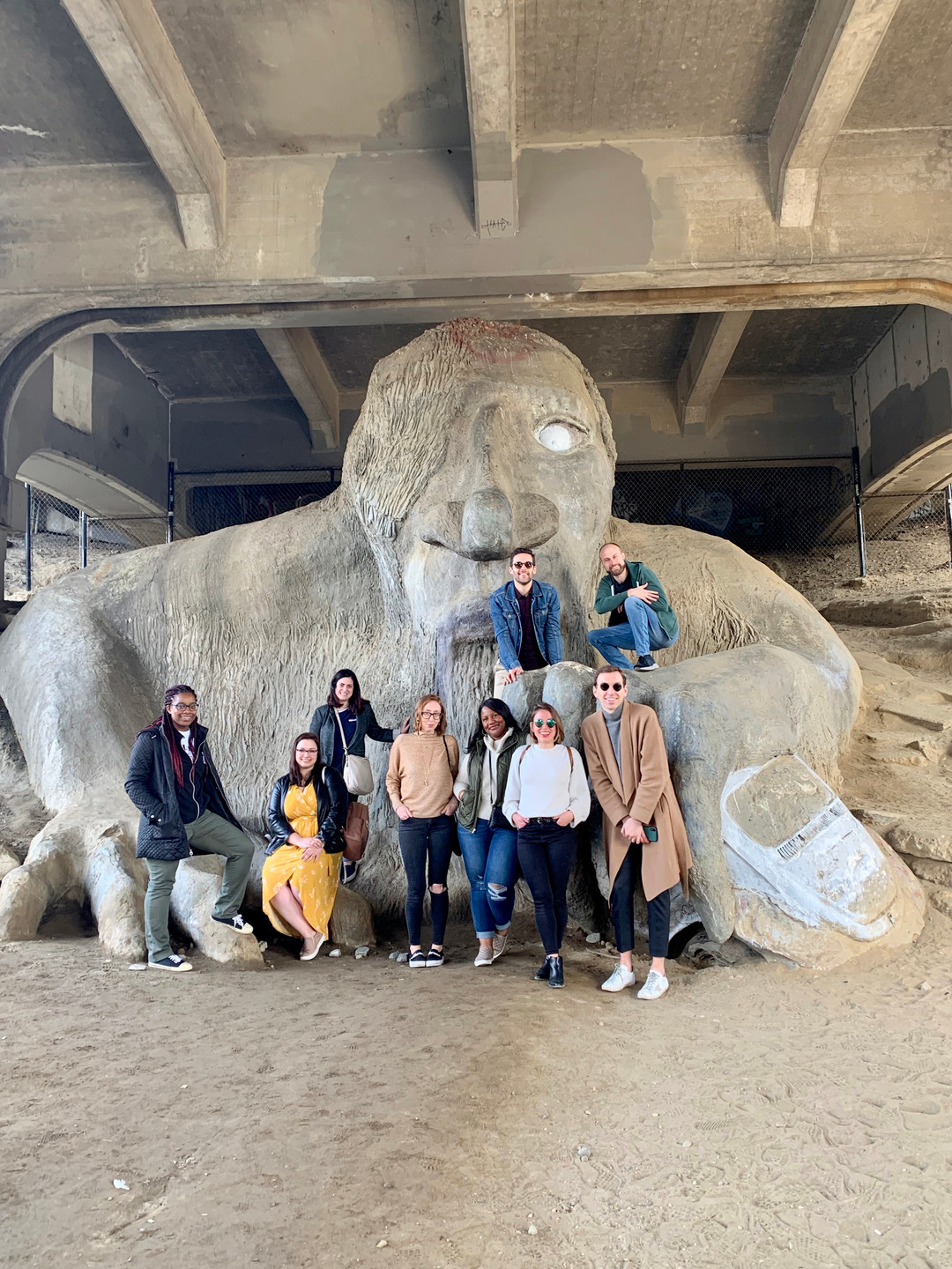 Friends at the Fremont Troll