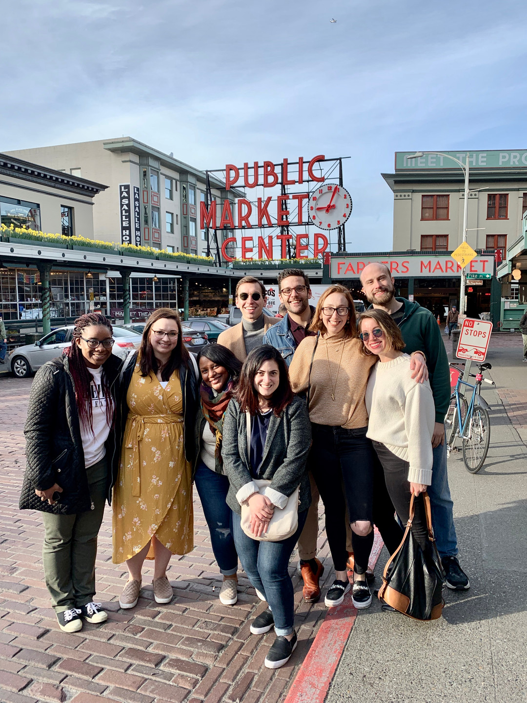 Friends at Pike Place Market