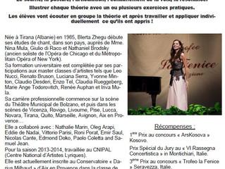 STAGE: Chant avec Blerta Zhegu