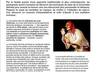 Stage Commedia Dell'Arte