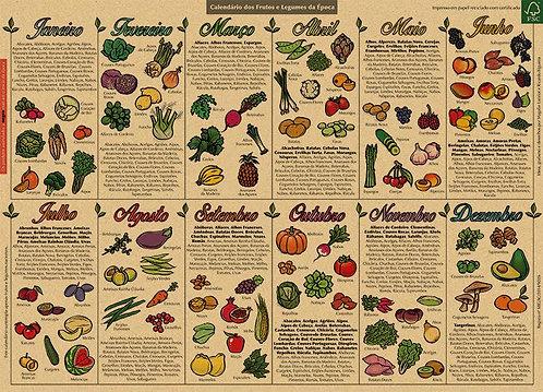 Calendário dos Frutos e Legumes da Época