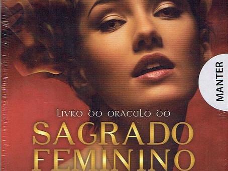 Livro do Oráculo do Sagrado Feminino com 56 Cartas de Oferta de Vera Faria Leal