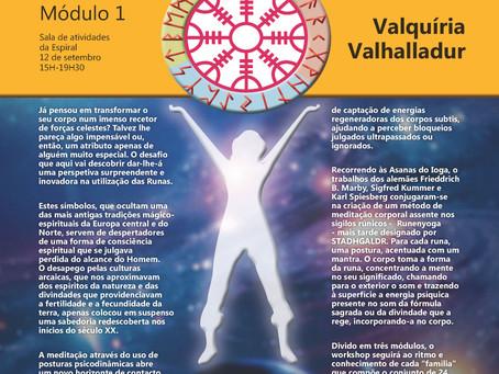 POSTURAS RÚNICAS (YOGA RÚNICO) VIAGEM À DIMENSÃO OCULTA DAS RUNAS - Valquíria Valhalladur - 12 Setem