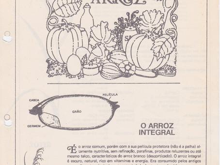 1989-04 /1 | O ARROZ INTEGRAL, alimento dos deuses