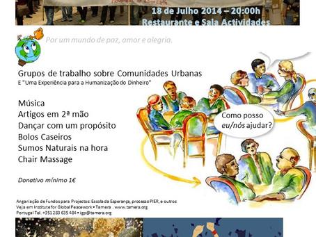 World Café - tema: Comunidades Urbanas e Humanização do Dinheiro