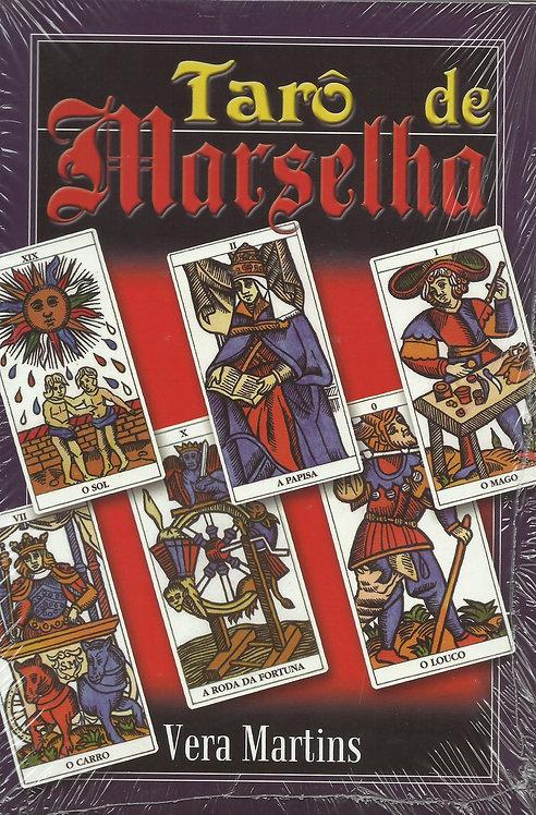 Tarô de Marselha (com 22 cartas coloridas) de Vera Martins