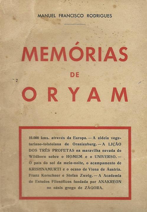 Memórias de Oryam de Manuel Francisco Rodrigues