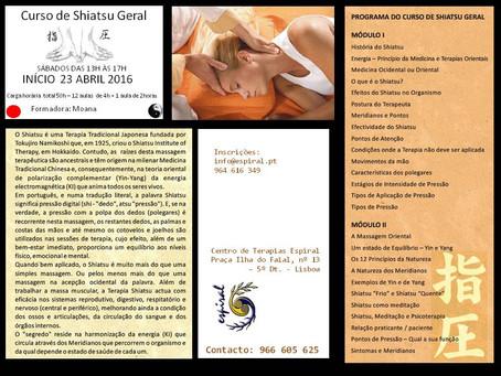 Curso Shiatsu - sábados das 13h às 17 horas - Inscrições abertas