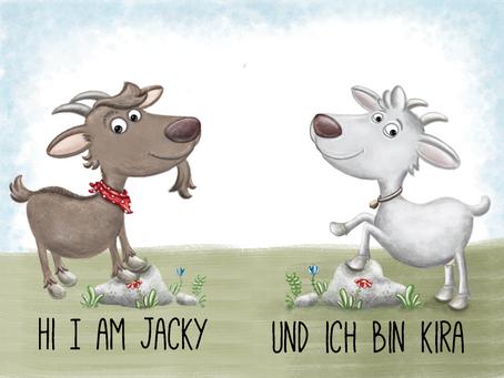 Jetzt haben die Geisslein einen Namen: Kira und Jacky