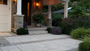 Paving Stone entrance with driveway accents