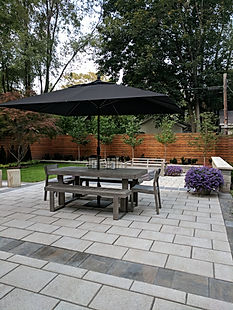 Patio for dining at home