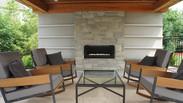 Back Yard Pavilion with custom fireplace