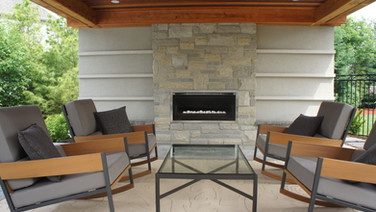Back Yard Pavilion with custom fireplace