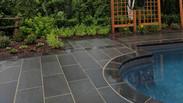 Custom stone work around pool